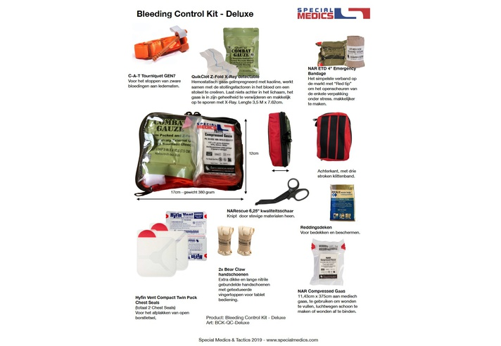 Special Medics Bleeding Control Sheet